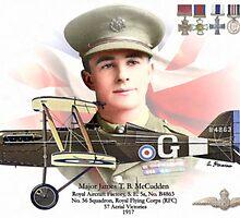 Major James T. B. McCudden by A. Hermann