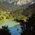 Mountains and lake by Patrick Morand