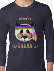 Groovy Panda Bear Psychedelic Long Sleeve T-Shirt