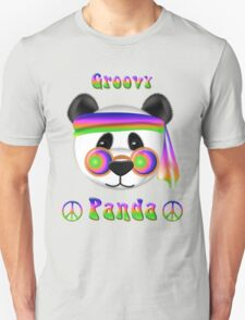 Groovy Panda Bear Psychedelic T-Shirt