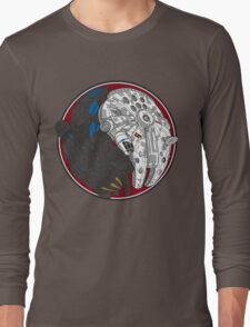 Sci-Fi Yin Yang Red Long Sleeve T-Shirt