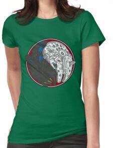 Sci-Fi Yin Yang Red Womens Fitted T-Shirt