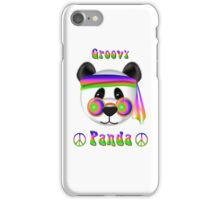 Groovy Panda Bear Psychedelic iPhone Case/Skin