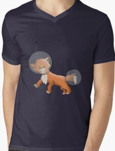 Space Fox Mens V-Neck T-Shirt