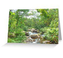September Arrives At The Unami Creek Greeting Card