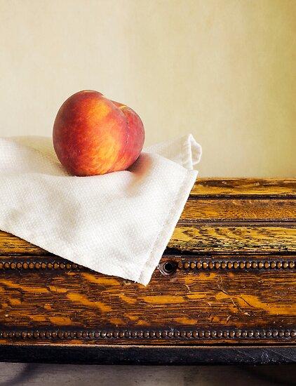 Fresh ripe peach by Edward Fielding