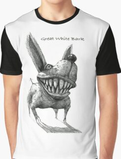 Great White Bark -with text Graphic T-Shirt