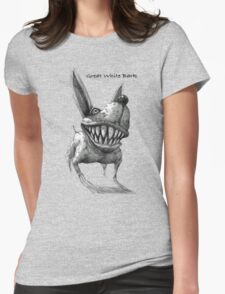 Great White Bark -with text Womens Fitted T-Shirt