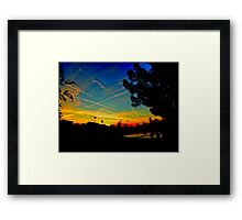 Contrail Sunset In Yuma Framed Print