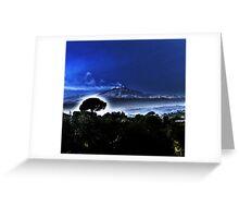 Etna's Evening Mist Greeting Card