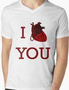 I Heart You Mens V-Neck T-Shirt