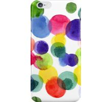 Abstract watercolor multi-colored polka dots.  iPhone Case/Skin