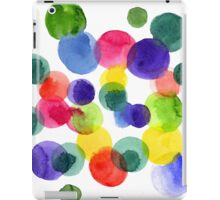Abstract watercolor multi-colored polka dots.  iPad Case/Skin