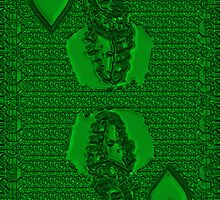 Green King of Hearts by RonMock