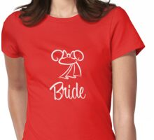 Minnie Mouse Bride Ears Womens Fitted T-Shirt