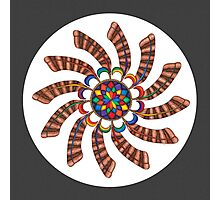 Dreamcatcher Mandala - Full-Color Print w/grey matte Photographic Print