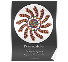 Dreamcatcher Mandala - Poster - Full-Color w/grey matte and Msg Poster