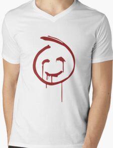Red John Smiley Face   Mens V-Neck T-Shirt