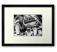 Wooden Blocks Framed Print