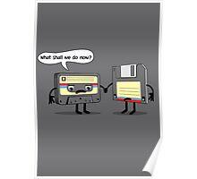 The Obsoletes (Retro Floppy Disk Cassette Tape)  Poster