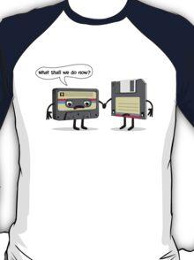 The Obsoletes (Retro Floppy Disk Cassette Tape)  T-Shirt