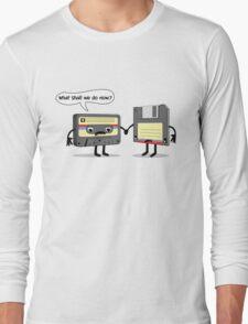 The Obsoletes (Retro Floppy Disk Cassette Tape)  Long Sleeve T-Shirt