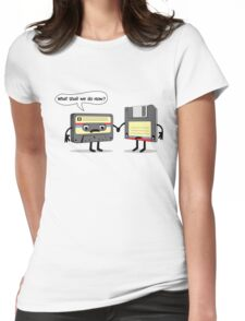 The Obsoletes (Retro Floppy Disk Cassette Tape)  Womens Fitted T-Shirt
