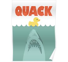 Jaws Rubber Duck 'Quack'  Poster