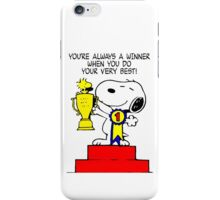 Winner Snoopy iPhone Case/Skin
