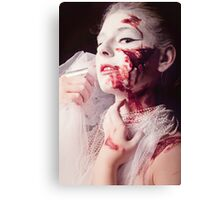 White and Blood II Canvas Print