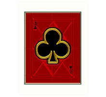 Glass Ace of Clubs Art Print