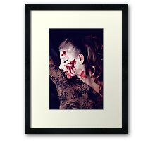 White and Blood III Framed Print