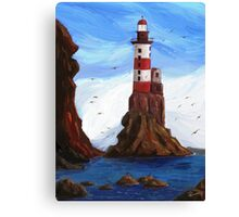 Lighthouse at the sea Canvas Print