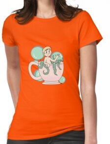 Tea cup and bubbles Womens Fitted T-Shirt