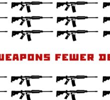 weapon and death Sticker