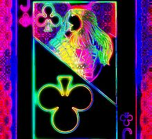 Double Neon Jack of Clubs by RonMock