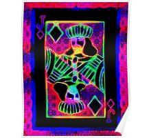 Double Neon Jack of Diamonds Poster