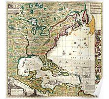 America Map 1773 Poster