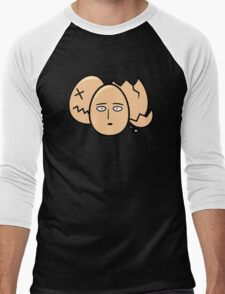 One Punch Egg, Saitama Once Punch Man Parody Men's Baseball ¾ T-Shirt