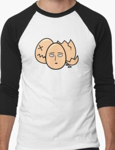 One Punch Egg, Saitama Once Punch Man Parody Men's Baseball ¾ T-Shirt