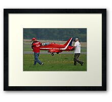 Defence Budget Cuts Scale Down The Red Arrows !! Framed Print