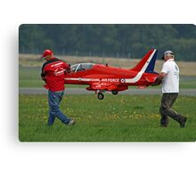 Defence Budget Cuts Scale Down The Red Arrows !! Canvas Print