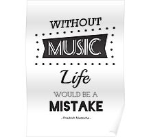 Music Quotes Typography Poster
