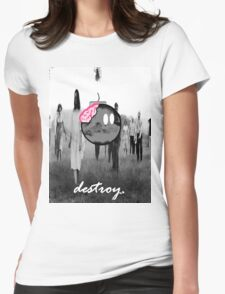 destroy.#8 Womens Fitted T-Shirt