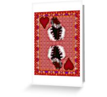 Fractil King of Hearts Greeting Card