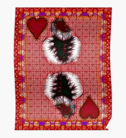 Fractil King of Hearts Poster