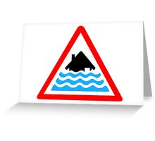 Severe Flood Warning Greeting Card