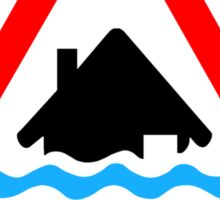 Severe Flood Warning Sticker