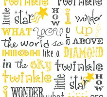 Twinkle Twinkle Little Star Poster by friedmangallery
