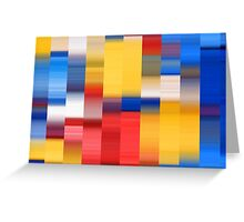 Abstract Chips Greeting Card